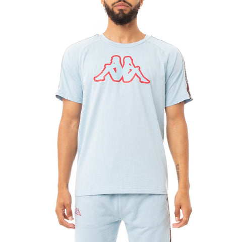 Logo Tape Avirec T-Shirt (Lt.Blue/Red/Black)
