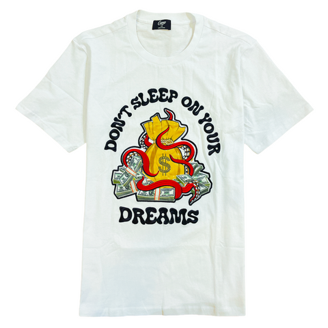 Camp 'Don't Sleep On Your Dreams' T-Shirt (White)