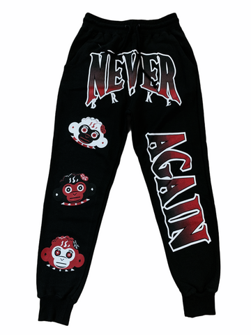 NBA Triple Monkey Head Joggers (Black)
