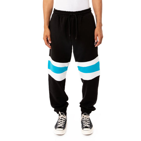 Kappa 'Football Pillus' Sweatpants (Black/Blue)