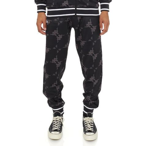 Kappa 'Authentic Ombrone' Trackpants (Black/Grey)
