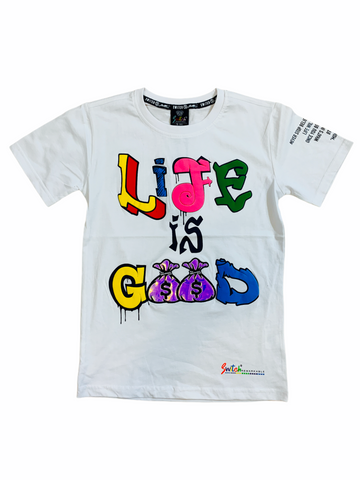 Switch Kids 'Life Is Good' T-Shirt (White)