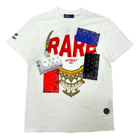Offbeat 'Rare Patchwork' T-Shirt (Off White)