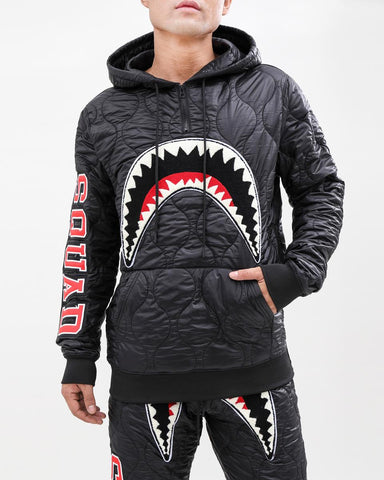 HUDSON Quilted Shark Mouth PullOver Hoody (H5053030) - Fresh N Fitted
