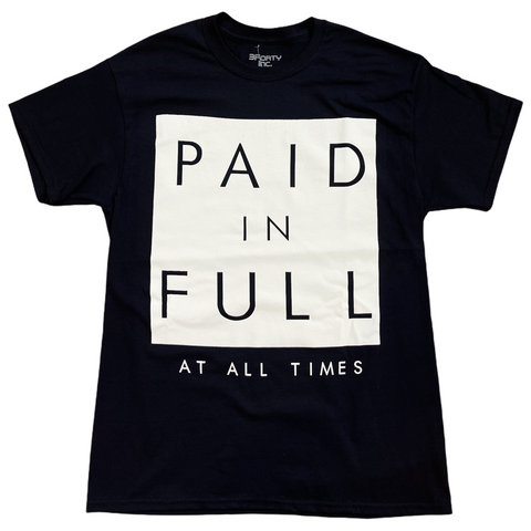 3Forty Inc. 'Original Paid In Full' T-Shirt (Black)
