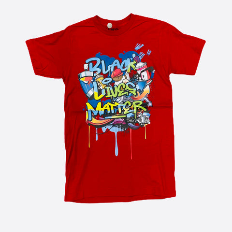 DHS Black Lives Matter Tee in Red - Fresh N Fitted
