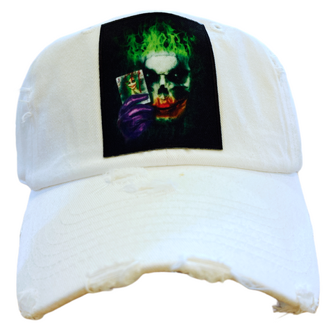 'Joker' Dad Hat (White)
