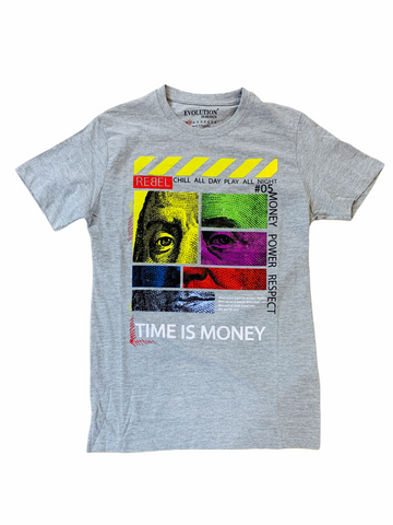 Evolution 'Time Is Money' T-Shirt (H.Grey)