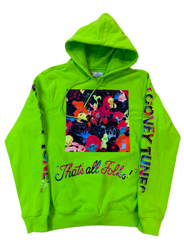 Freeze Max x Looney Tunes 'That's All Folks' Hoodie (Lime)