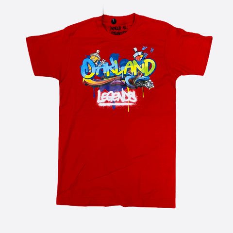 DHS Oakland Legends Tee in Red - Fresh N Fitted