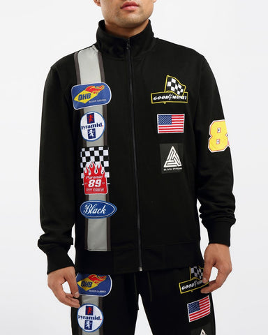 Black Pyramid Grease Monkey Track Jacket - Fresh N Fitted