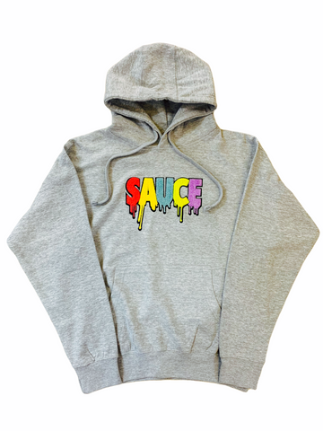 3Forty Inc. 'Sauce' Chenille Patch Hoodie (Grey)