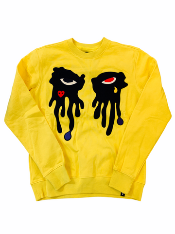 Roku Studio Tear Drip Crewneck (Yellow)