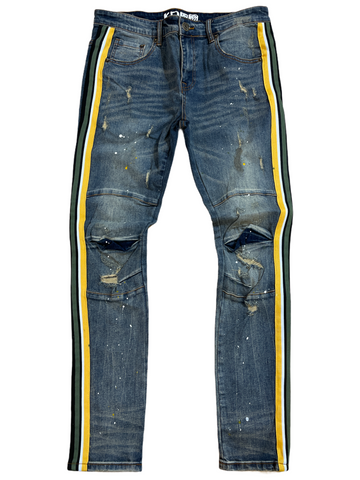 Kind Red Side Stripe Denim (Vintage/Green/Gold)