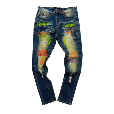 Switch Slim Taper Fit 'Paint Brush' Denim (Vintage SFO645)