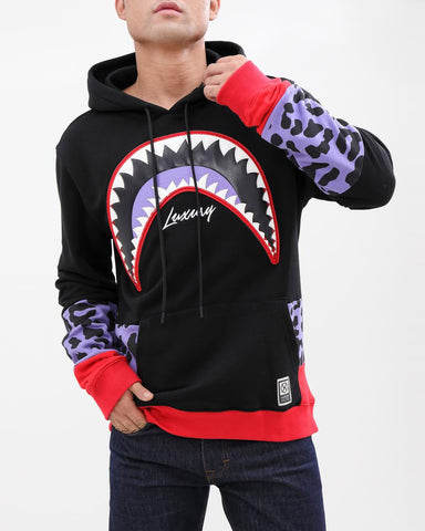 HUDSON Shark Mouth Leopard Hoody (H5052998) - Fresh N Fitted