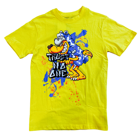 Black Pike 'Trust No One' T-Shirt (Yellow)