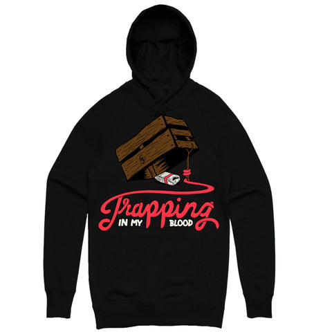 PG Apparel 'Trappin In My Blood' Hoodie (Black)