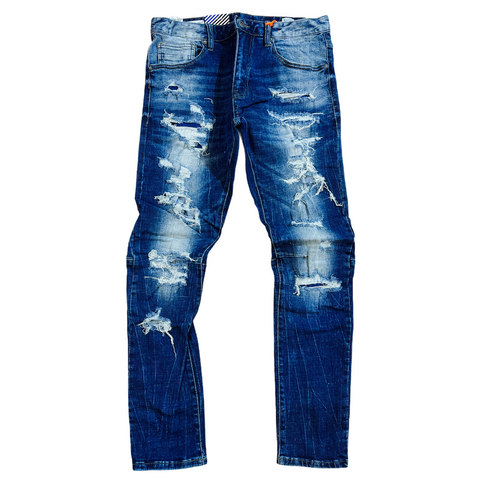 Smoke Rise 'Rip and Repair' Denim (Viv.Blue)