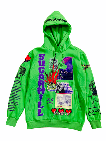 Sugarhill 'Anxiety' Hoodie (Lime)