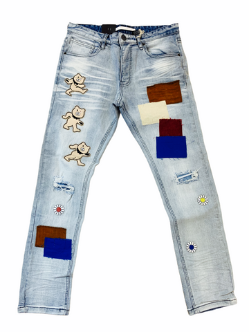 Kloud9 Patchwork Denim (Ice Blue)