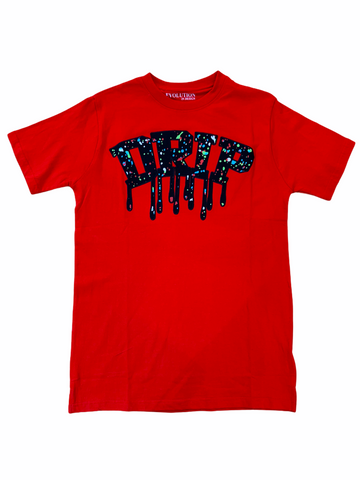 Evolution 'Drip' T-Shirt (Red)