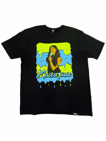 PG Apparel 'Masterpiece' T-Shirt (Black/Green/Blue)