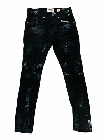 FWRD Kids Ripped Denim w/ Paint (Jet Black)