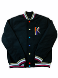 Switch 'Ultimate King' Letterman Jacket w/Removable Fur (Black)