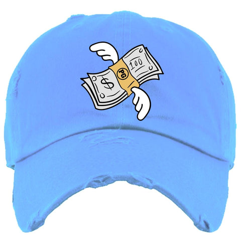 PG Apparel Flying Money Dad Hat - Carolina Blue - Fresh N Fitted