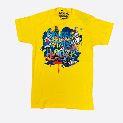 DHS Golden State Hustler Tee in Yellow - Fresh N Fitted