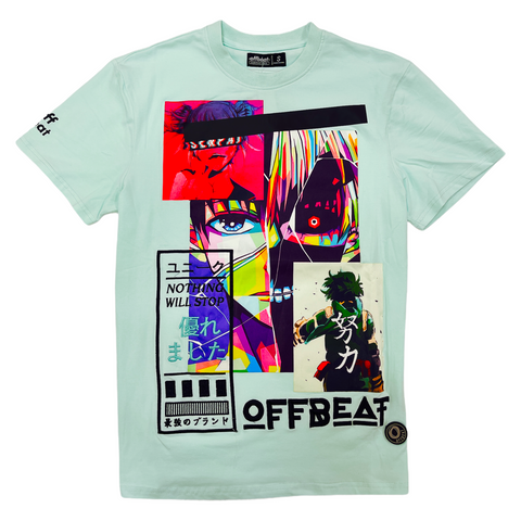 Offbeat 'Nothing Will Stop' T-Shirt (Mint)