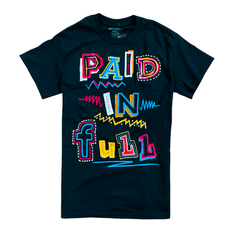 3Forty Inc. 'Paid In Full Sketch' T-Shirt (Black)