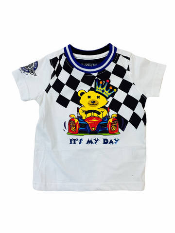 Elite Denim Kids 'It's My Day' T-Shirt (White)