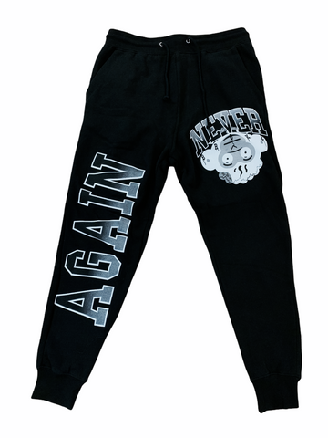 NBA Grey Monkey Head Joggers (Black)
