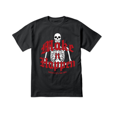 Yumm 'Too Late' T-Shirt (Black/Carmine Red)