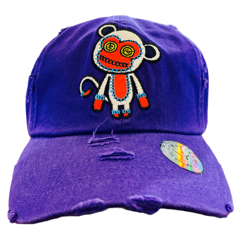 'Monkey' Dad Hat (Purple)
