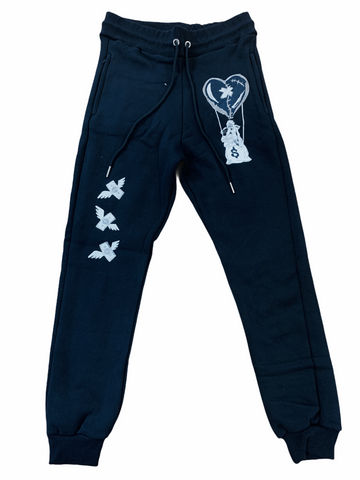 Retro Label 'OG Air' Sweatpants (Navy)