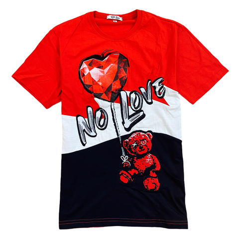 Retro Label 'Raging Bull No Love' T-Shirt (Red)