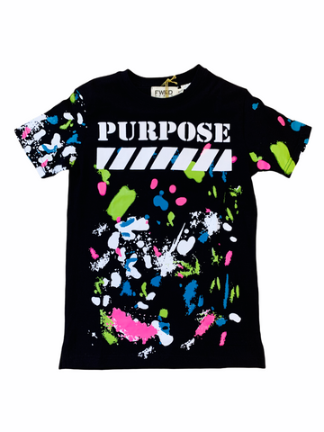 FWRD Kids 'Purpose' T-Shirt (Black)