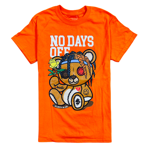 3Forty Inc. 'No Days Off Bear' T-Shirt (Orange)