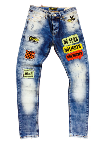 X WAY 'No Limits' Denim (Blue Wash)