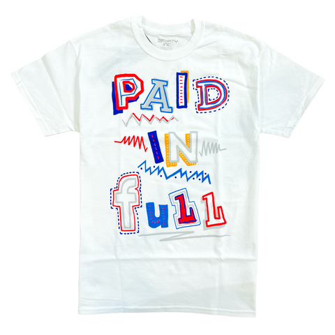 3Forty Inc. 'Paid In Full Sketch' T-Shirt (White)