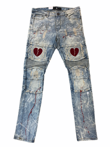 Focus Heartbreak Denim w/Splatter (Dirt Wash/Red)
