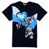 Retro Label 'Carolina Blue No Love' T-Shirt (Black)