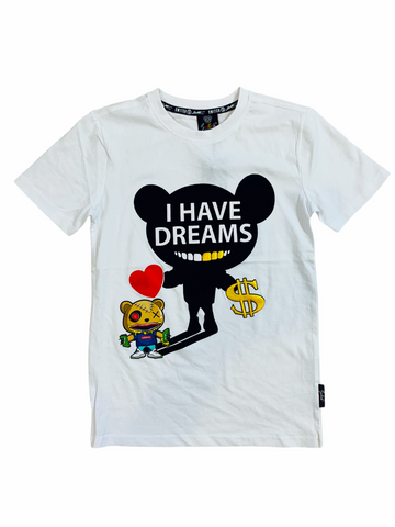 Switch Kids 'I Have Dreams' T-Shirt (White)