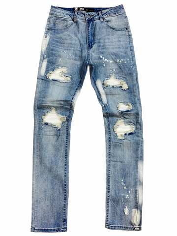 Waimea Kids Pintuck Patched Denim (Lt. Stone)