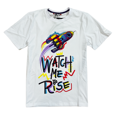 BKYS 'Watch Me Rise' T-Shirt (White)