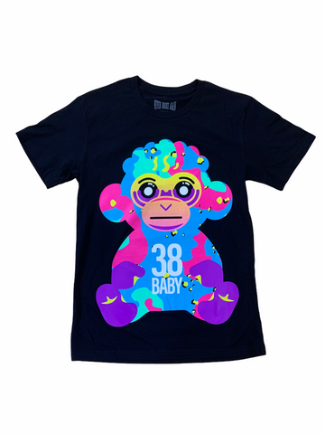 NBA Neon Monkey T-Shirt (Black)