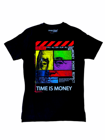 Evolution 'Time Is Money' T-Shirt (Black)
